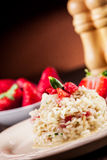 Sweet Risotto with Strawberries Royalty Free Stock Photo