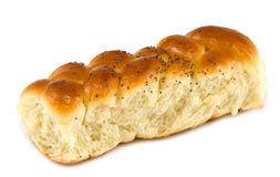 Sweet roll. On white background Stock Images
