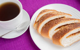 Sweet roll with apple Stock Photo