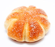 Sweet roll bun isolated on a white stock images