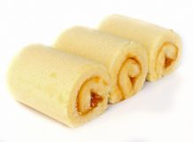 Sweet roll cake. Stock Photos