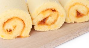 Sweet roll cake. Royalty Free Stock Images