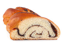 Sweet roll with poppy seed Stock Image