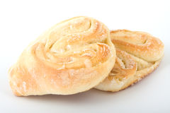 Sweet rolls. Isloated on white background stock image