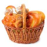 Sweet rolls in basket Royalty Free Stock Image