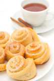 Sweet rolls buns Royalty Free Stock Images