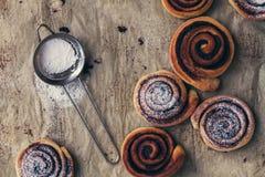 Sweet rolls with cinnamon Stock Photo
