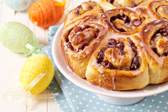 Sweet rolls with dried fruits Royalty Free Stock Photo