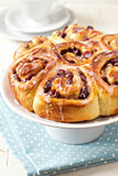 Sweet rolls with dried fruits Royalty Free Stock Photography
