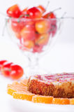 Sweet rolls, jujube and cherry Royalty Free Stock Photos