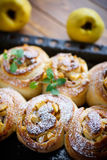 Sweet rolls with quince Stock Photo