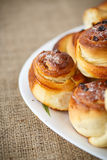 Sweet rolls with raisins Stock Images