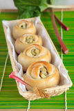 Sweet rolls with rhubarb Royalty Free Stock Photos