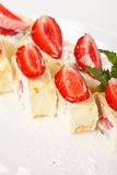 Sweet rolls with strawberry Royalty Free Stock Photos