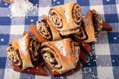 Sweet rolls stuffed with poppy and sugar Royalty Free Stock Image