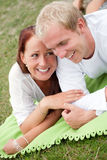 Sweet romantic couple Stock Photos