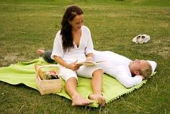 Sweet romantic scene stock image