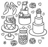 Sweet romantic wedding stuff Royalty Free Stock Photography