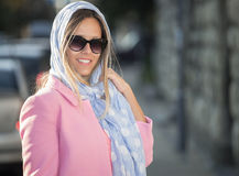 Sweet 60s with scarf Stock Photography