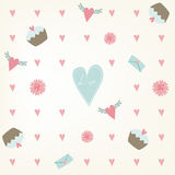 Sweet saemless Valentines Day pattern. Royalty Free Stock Image