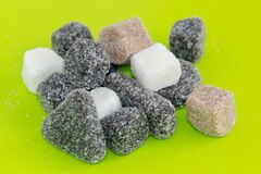 Sweet and salty liquorice candy Royalty Free Stock Photo
