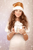 Sweet Santa helper Royalty Free Stock Photography