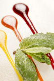 Sweet sauces Stock Images