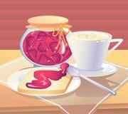 Sweet sbreakfast with jam Stock Photography