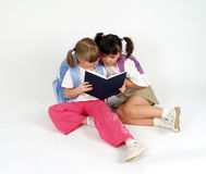 Sweet school girls Stock Images