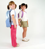 Sweet school girls Stock Photos