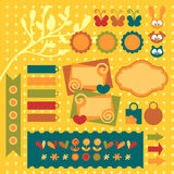 Sweet scrapbook elements set Stock Photo