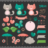 Sweet scrapbook elements set Royalty Free Stock Photography