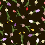 Sweet seamless flovers pattern Royalty Free Stock Photos