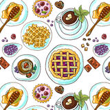 Sweet  seamless pattern Stock Photography