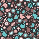 Sweet seamless pattern design Stock Photo