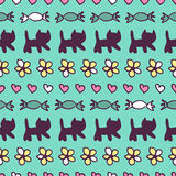 Sweet seamless pattern Royalty Free Stock Photos