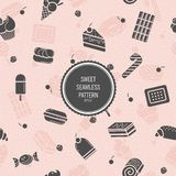 Sweet seamless pattern. Style flat. Background for use in design Royalty Free Stock Image