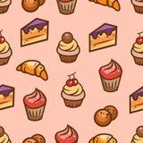 Sweet seamless pattern Stock Photos