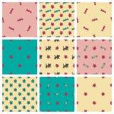 Sweet seamless patterns set Stock Photography