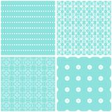 Sweet seamless patterns. Texture for fabric and paper or scrap booking Vector Illustration
