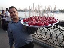Sweet seller in Cairo stock photo