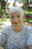 Sweet Senior Lady stock images