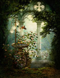 Sweet Serenity Birdbath, 3d CG Royalty Free Stock Image