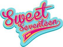Sweet seventeen retro design Royalty Free Stock Photos