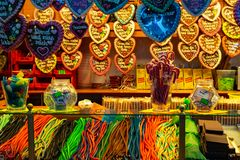 Sweet shop in alexanderplatz royalty free stock photos