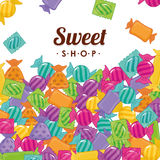 Sweet shop. Design, vector illustration eps10 graphic Stock Image
