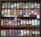 Sweet shop display stock image