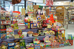 Sweet shop and games Royalty Free Stock Images