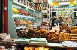 Sweet shop at the Grand Bazaar, Istanbul, Turkey royalty free stock image