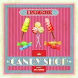 Sweet Shop Poster Royalty Free Stock Photos
